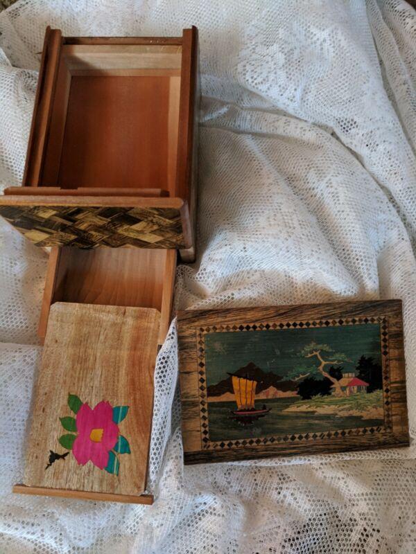 Vintage Japanese Yosegi Secret Puzzle Box 10  Movements With Music Handmade