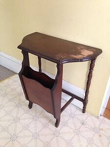 """Antique Half Moon Table, 24"""" x 12"""". $40 Firm"""