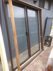 Brown aluminium sliding door doors Casula Liverpool Area Preview
