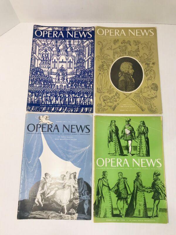 OPERA NEWS Magazine 1956 4 Issues - February March - Metropolitan Opera Guild