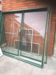 Brown aluminium sliding door Casula Liverpool Area Preview