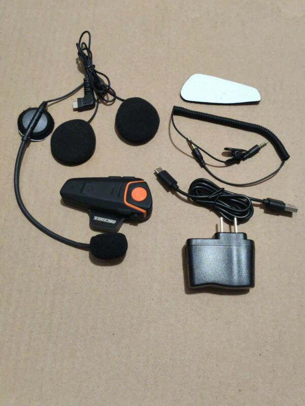 Waterproof BT-S2 Motorcycle Helmet Bluetooth Wireless Headset Motorbike AS-IS