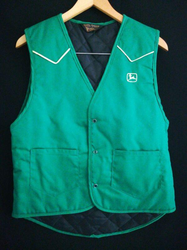 Vintage John Deere Green Vest By Protexall American Runs Small see measure z17