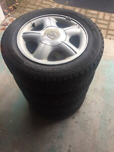 Snow tires Hankook iPike snow tires with Acura rims