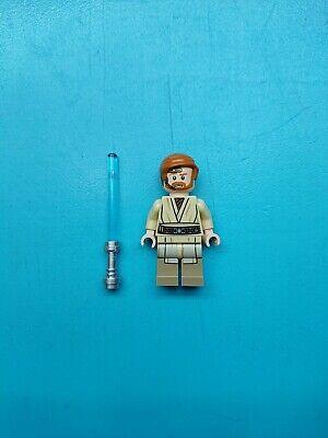 Lego Star Wars Minifigure Jedi Obi-wan Kenobi w/Headset 75135 Lightsaber!