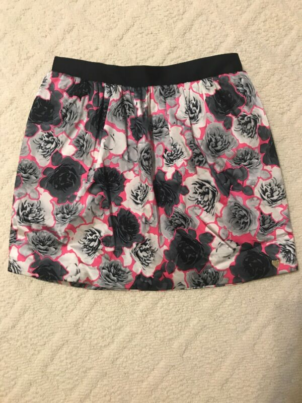 JUICY COUTURE PINK FLORAL PRINT PLEATED MINI SKIRT SIZE 10, Kids Girls