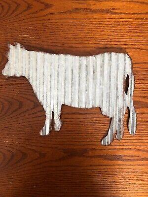 Corrugated Farm Cow Farm house Wall Decor Metal Tin Wall Decor](Farm Decorations)