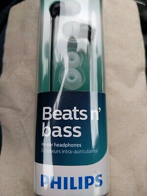Used, Philips Clear Sound (Beats & Bass) In-Ear Headphones, Black, SHE3590BK for sale  Shipping to India