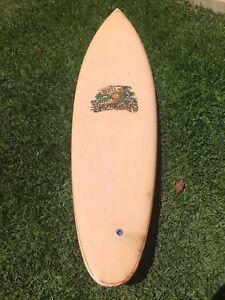 Rare 1972 vintage Brothers Neilsen Single Fin surfboard