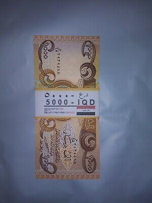 50,000 Lightly Circ 5 x 10,000 IQD 50000 Fast Ship! Iraqi Dinar Banknotes
