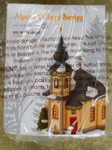 DEPT 56 ALPINE Village AVE MARIA CHAPEL NIB *Still Sealed*