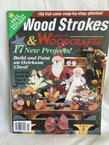 Wood Strokes & Woodcrafts Magazines * Lot of 6 * 1995; 1996; 1997