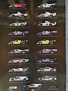 Le Mans Porsche winners: From 1970 to 1998, 2015 & 17, Limited Edition prints