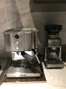 Breville espresso machine cafe roma and Breville grinder