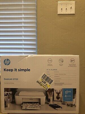 NEW HP DeskJet 2722 All-in-One Wireless Color Inkjet Printer FREE INK FAST SHIP!