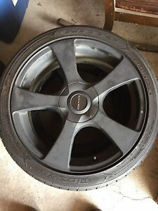 "*REDUCED* Core Racing 18"" rims w/ tires"