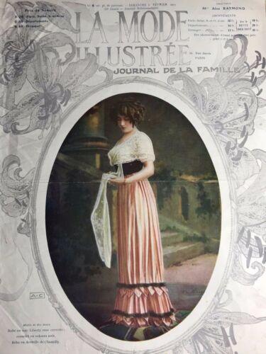 Edwardian MODE ILLUSTREE Feb 3,1911+ sewing PATTERN sheet - Costume, wool dress