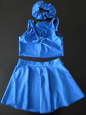Roch Valley Girls Leotard, Size:1B + Skirt, Size: Medium + Hair Acces., 5-7yrs