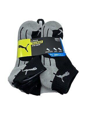 Puma 6 Pack Ultimate Training Mens Qtr Crew Socks