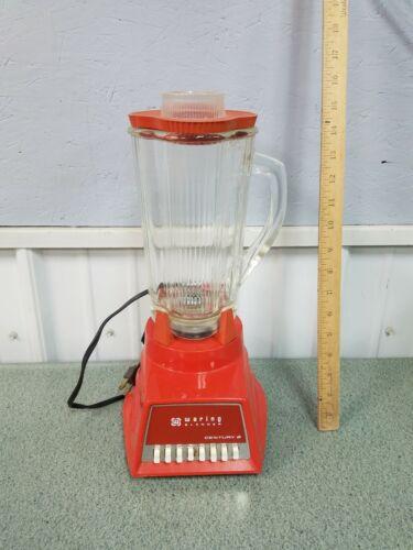Vintage Collectible Waring Blender Model  11-084 Century 8 Orange Blender