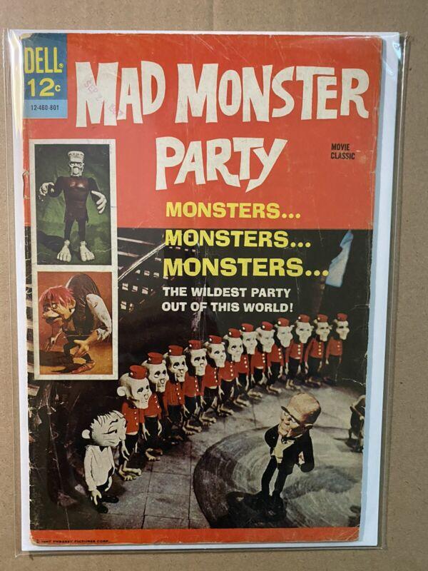 MAD MONSTER PARTY  DELL MOVIE CLASSICS 1967  HTF BORIS KARLOFF COMIC