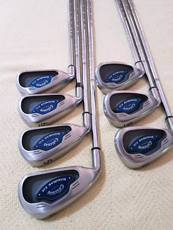 Golf Callaway X 16 Steelhead Irons Set Mens Left Handed 4-PW