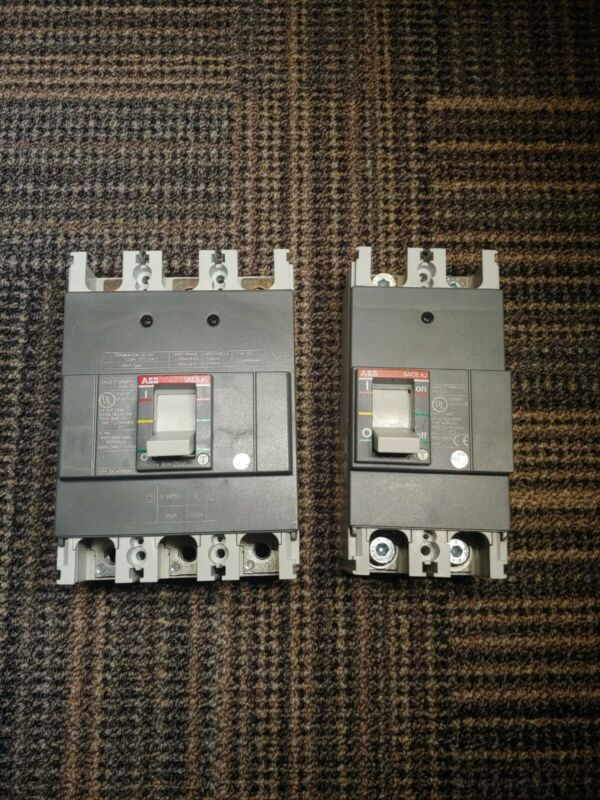 Lot Of 2 ABB Circuit Breakers A2N 250 1 3 Pole 1 2 Pole.