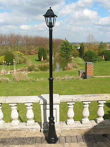 Merveilleux Victorian Style Single Headed Aluminium Garden Lamp Post 2.2m Tall