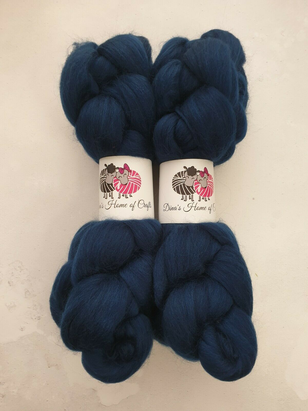 как выглядит Merino roving, wool top, 100 g, OCEAN фото