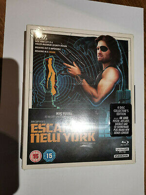 ESCAPE FROM NEW YORK 4 DISC COLLECTOR'S EDITION STUDIO CANAL 4K JOHN...