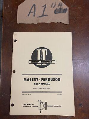 Massey-ferguson It Shop Manual Mf230 Mf235 Mf245 Tractors Mf-33