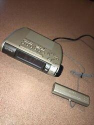 Sony ICF-C255RC AM/FM Alarm Clock Radio Dream Machine w Radio Controlled Antenna