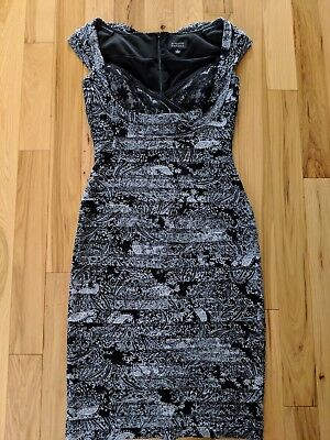 ADRIANNA PAPELL Black Lace Tiered Sleeveless Cocktail Dress-Size 6 Adrianna Papell Sleeveless Cocktail Dress