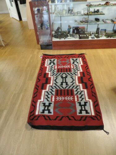 Authentic Navajo Indian Hand Woven Rug