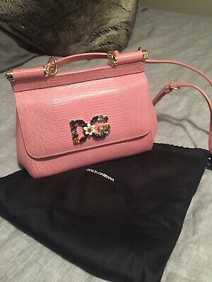 dolce and gabana Women's Pink Small Sicily Handbag mint (Dolce Gabana Dolce)