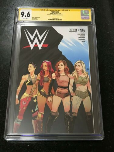"Signed WWE #15 CGC 9.6 by CHARLOTTE FLAIR ""QUEEN"" Boom! Studios 4 Horsewomen"