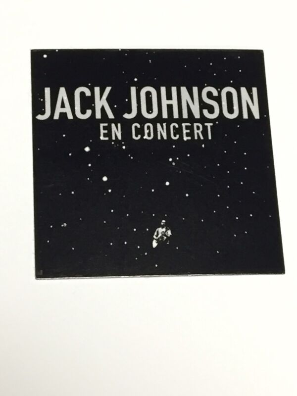 Jack Johnson En Concert Rare Promo Sticker Record Store Promotional Beach Rock