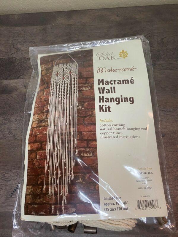 Macrame Wall Hanging Kit Solid Oak Inc. DIY KIT make-rame - HEARTS - EUC