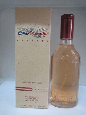 Perry Ellis America Pour Femme Eau De Toilette Spray 3.4 Fl oz for Women NEW America Eau De Toilette Spray