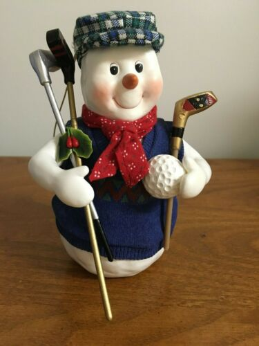 Clothtique Possible Dreams Chip Frozengreen Snowman Golf Ornament