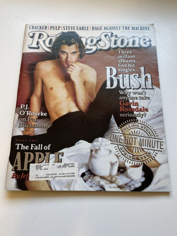 Rolling Stone magazine BUSH Gavin Rossdale Issue 732 April 18, 1996