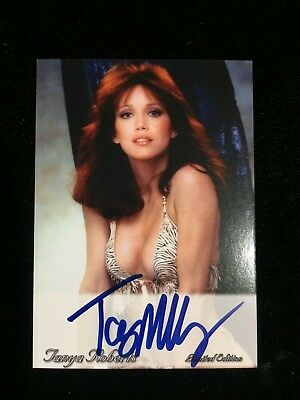 Tanya Roberts CARD Signed AUTOGRAPH COA Charlie's Angels Playboy James Bond Girl