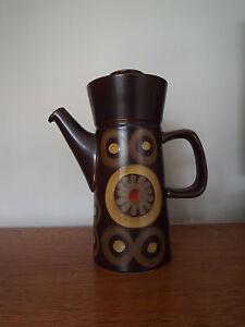 Mid Century DENBY ARABESQUE (SAMARKAND) Coffee Pot Retro 1960's Pottery