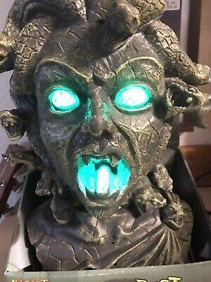 Spirit Medusa Bust 3 Sayings Lights Up In Box Halloween