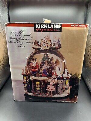Kirkland Christmas Musical Waterglobe With Revolving Inner Scene In Original Box