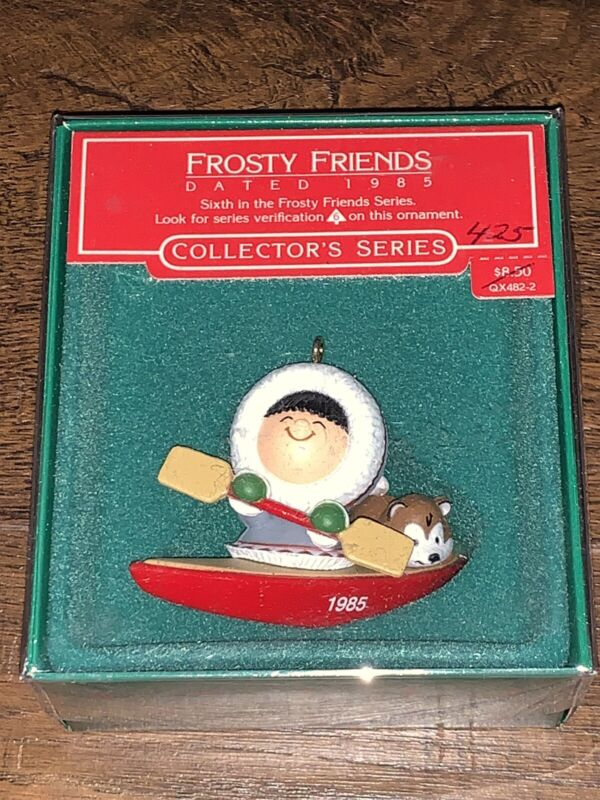 Hallmark Ornament 1985 FROSTY FRIENDS in Box with TAG 6th in Series P1