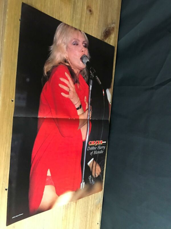 1979 VINTAGE 2PG MAGAZINE POSTER CENTERFOLD OF BLONDIE DEBBIE HARRY RED PANTIES