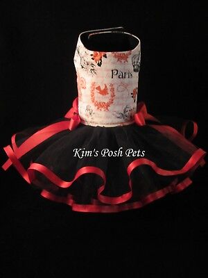 NEW Dog Dress XS _ Paris is for Lovers Dog Tutu Dress _ Dog Clothes_SUPER SALE