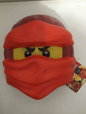 Lego Child Ninjago Kia Plastic Mask Costume Red One Size - Red Ninjago Costume