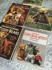 Set of 5 Teddy Bear Artist books